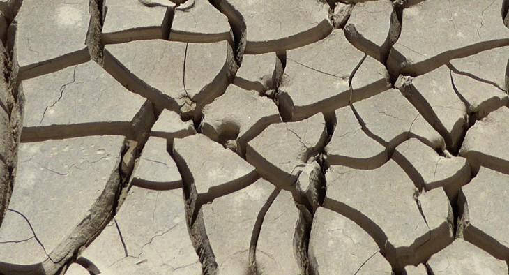 Dry clay soil