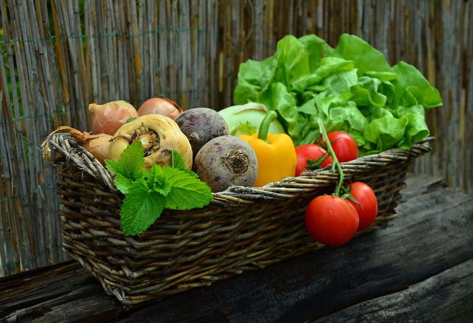 Fresh vegetables are healthy and delicious.